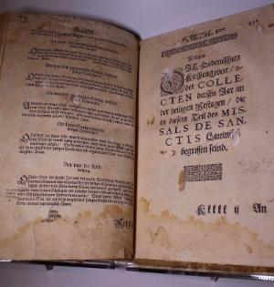 Missale vor der Restaurierung