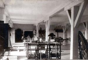 """Obergeschoß des Westflügels um 1909 mit dem """"Dommuseum"""""""