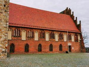 Blick auf den Westflügel der Klosteranlage