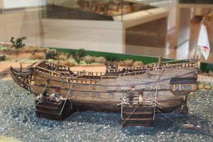 Modell_Kreideweiß 1992_Schiffstransport um 1695